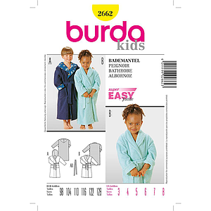 Patron Burda 2662 Kids Peignoir