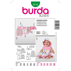 Patron Burda 9712 Kids Ensemble