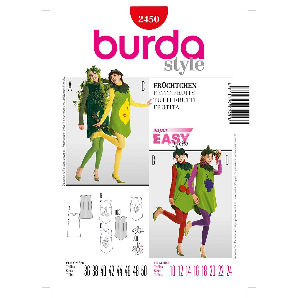 Patron Burda 2450 Carnaval Petits Fruits