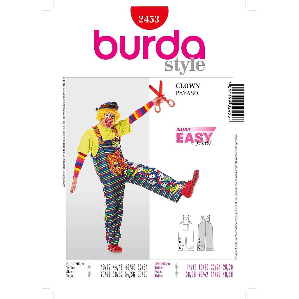 Patron Burda 2453 Carnaval Clown