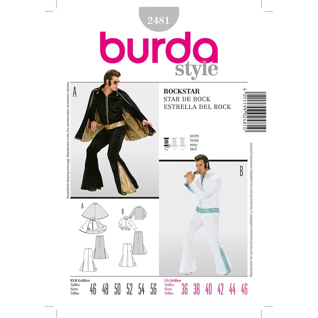 Patron Burda 2481 Carnaval Rock Star