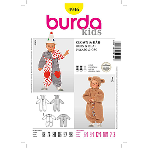 Patron Burda 4946 Carnaval Clown & ours