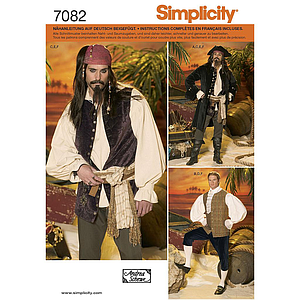 Patron Simplicity 7082 costume pirate hommes