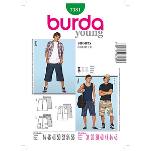 Patron Burda 7381 Young Short