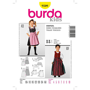 Patron Burda 9509 Kids Robe folklore