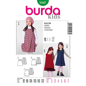 Patron Burda 9447 Kids Robe