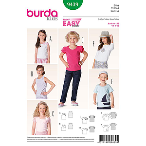 Patron Burda 9439 Kids T-shirt