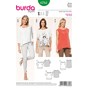 Patron Burda 6762 Blouse