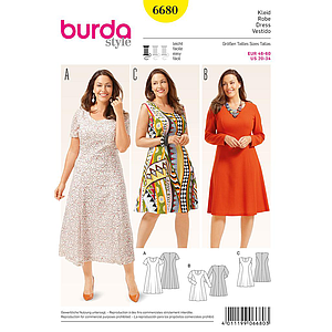 Patron Burda 6680 Robe