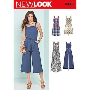 Patron New Look 6446 Robe et combi-pantalon