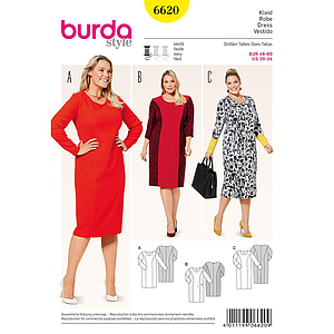 Patron Burda 6620 Robe
