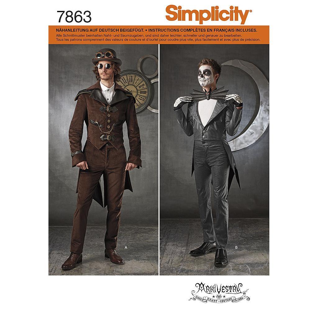 Burda patrón de costura 2767 para Hombres Formal Suit cosume histórico 1848